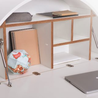 Pill, Wall Mounted Desk in White -31966