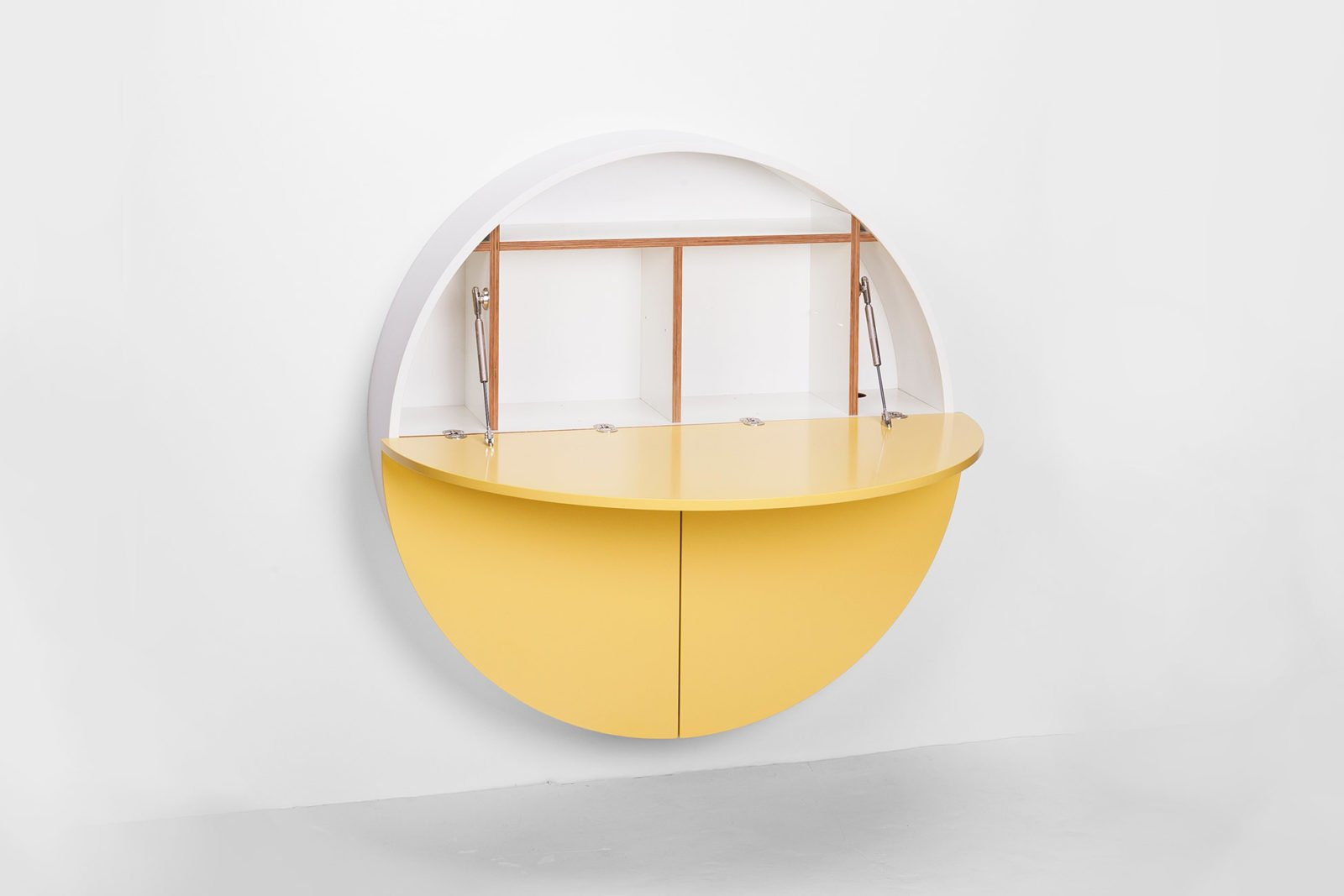 Pill, Wall Mounted Desk in Yellow-31998