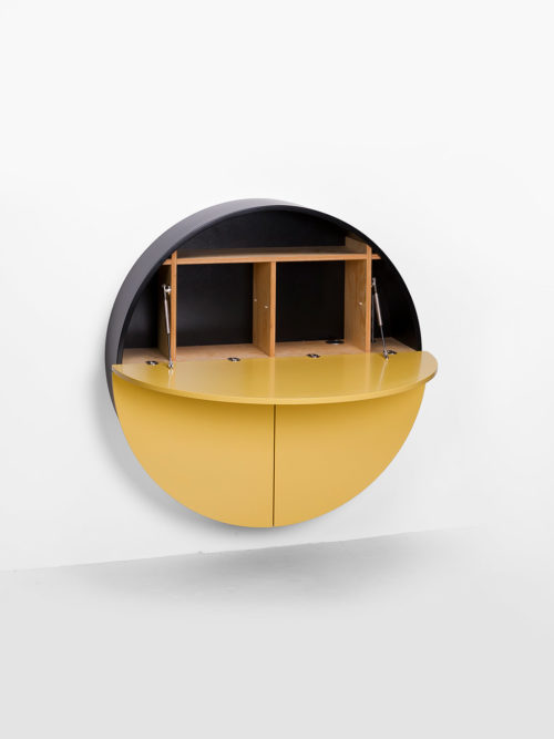 Pill, Wall Mounted Desk in Yellow-31996