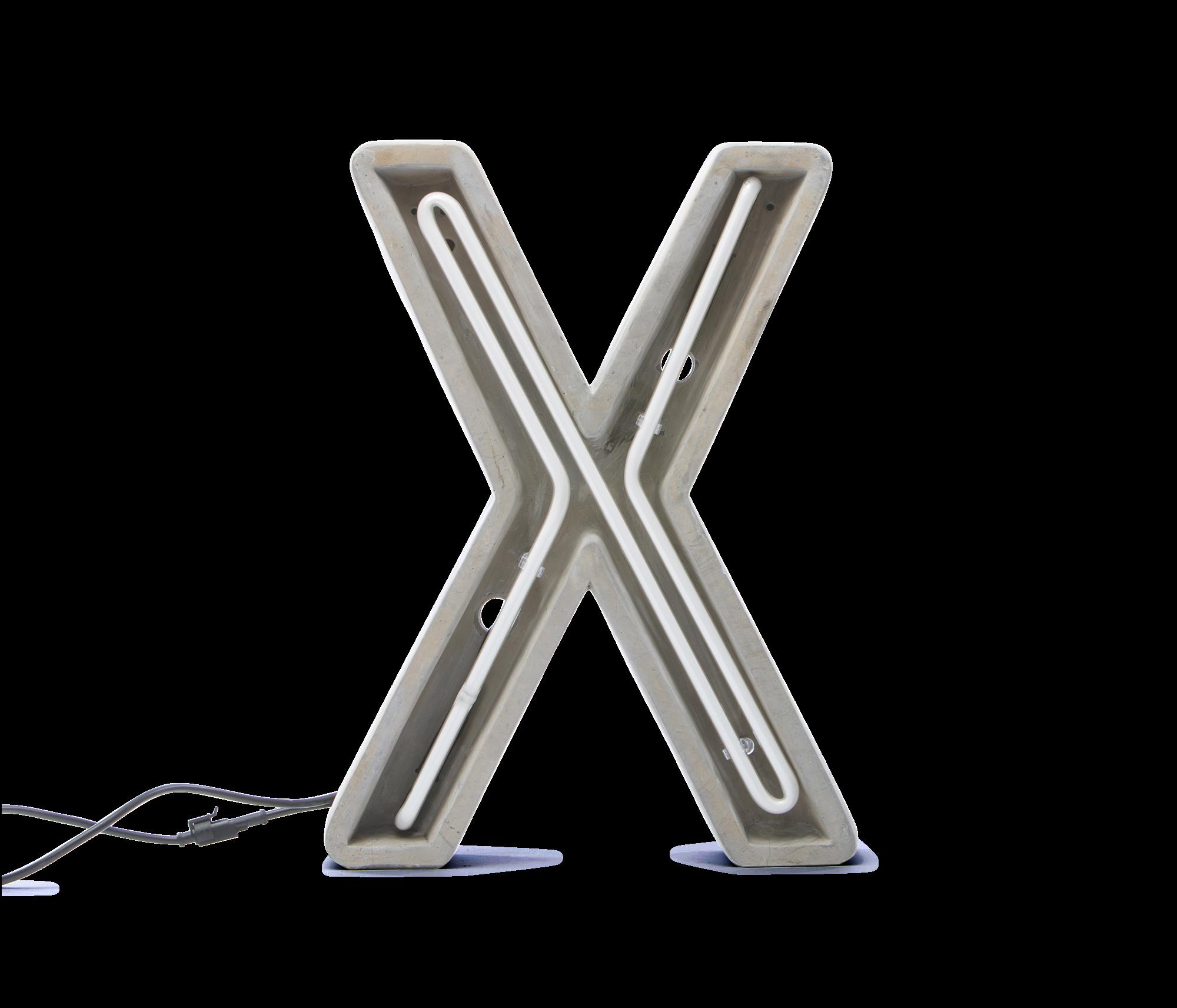 Alphacrete, Concrete Neon Light – X-0