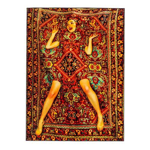Rectangular Rug Lady on Carpet-33823