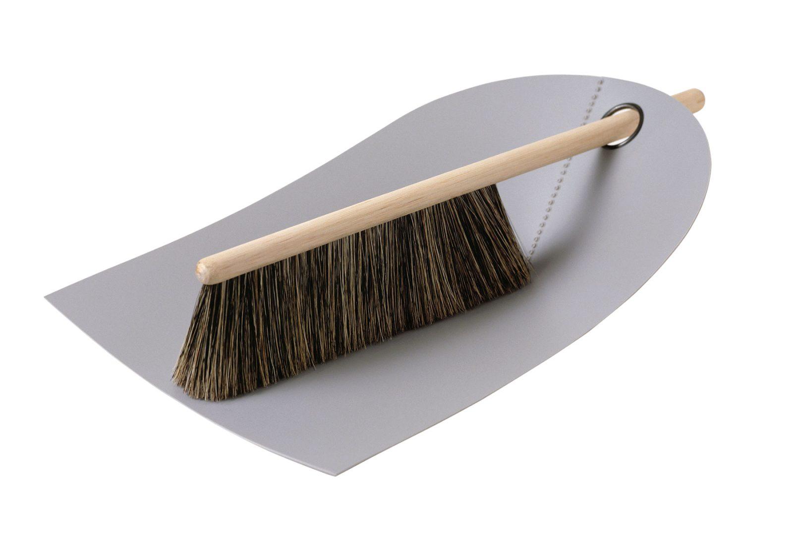 Dustpan & Broom, Light Grey-34031