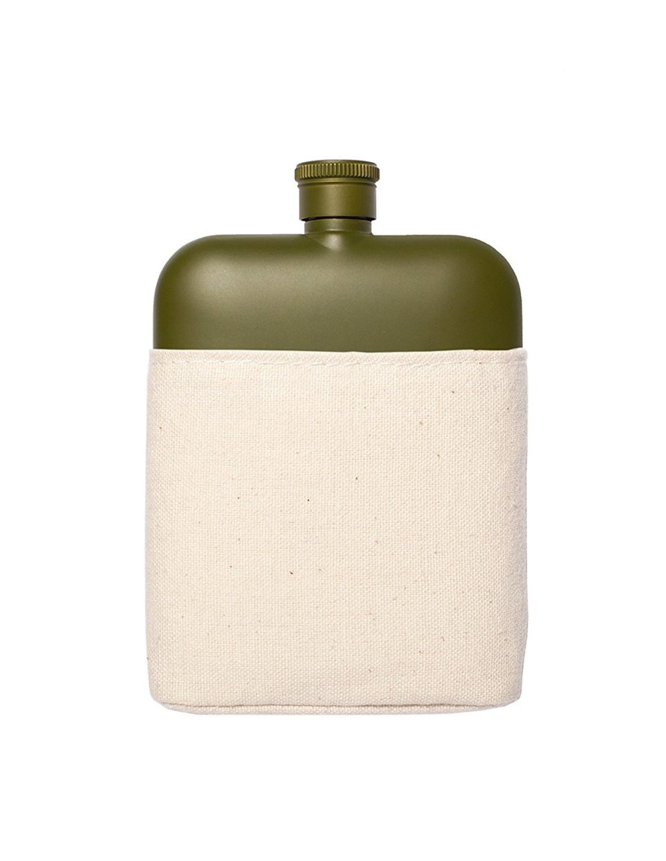 Flask with Canvas Carrier, Army Green-34015