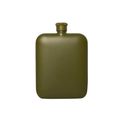 Flask with Canvas Carrier, Army Green-34013