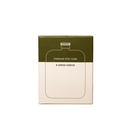 Flask with Canvas Carrier, Army Green-34014