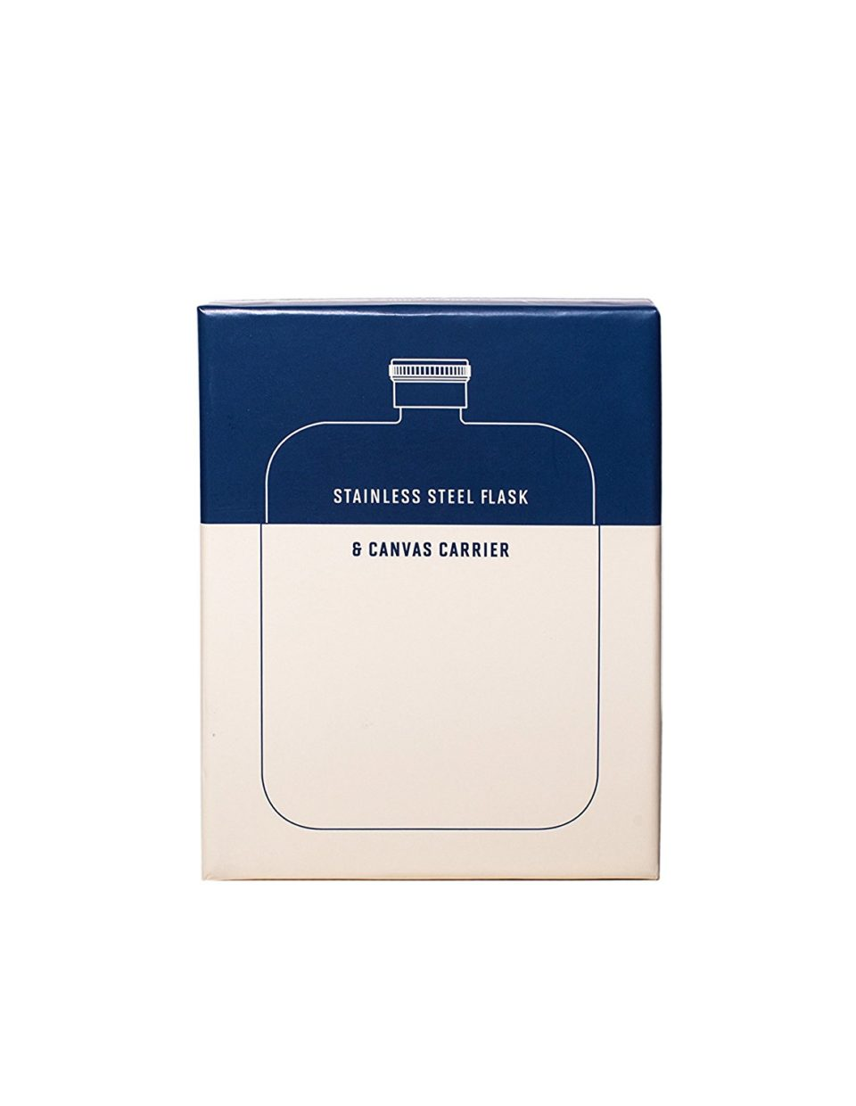 Flask with Canvas Carrier, Navy-34018
