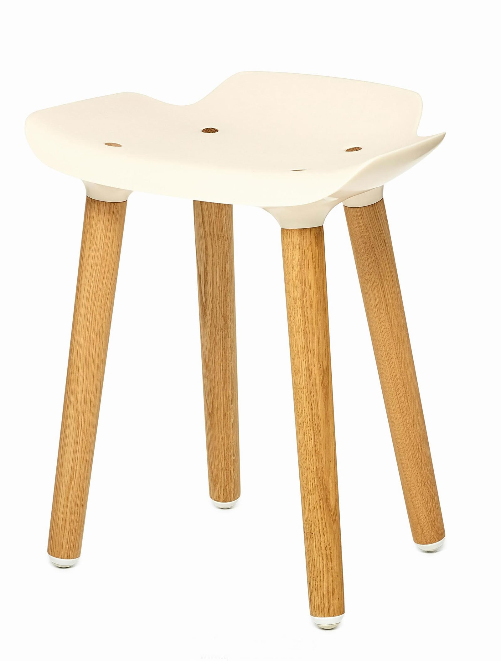 Pilot Stool by Quinze & Milan, Ivory-34322