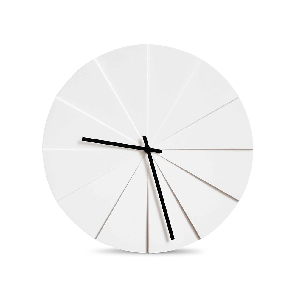 Scope Clock, White-0