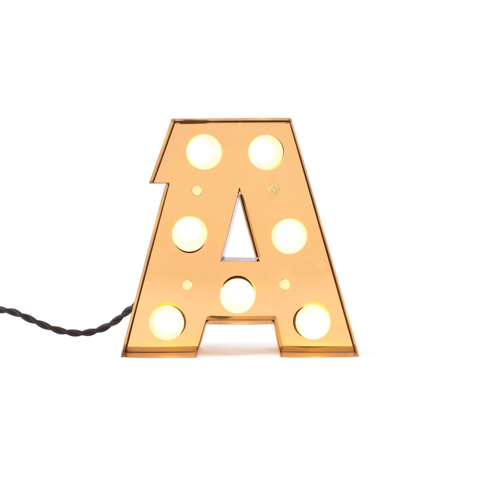 Caractère Alphabet Lights, A-34447