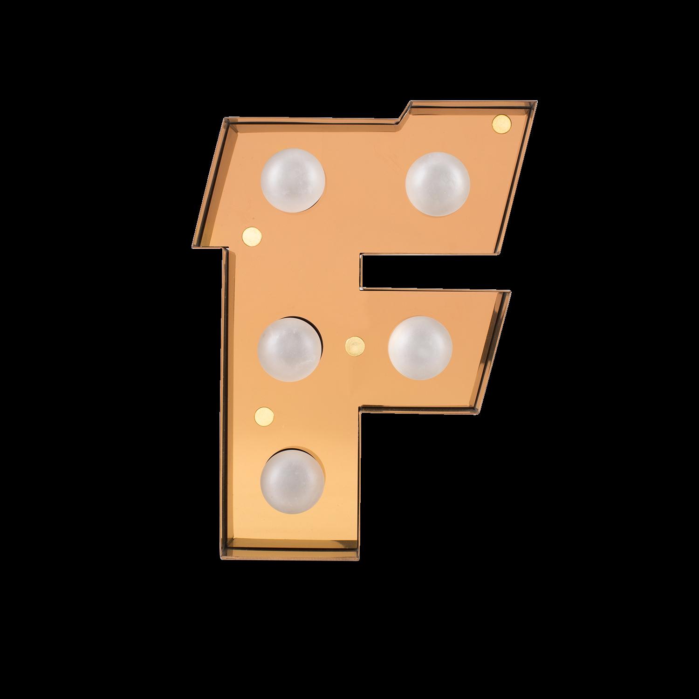 Caractère Alphabet Lights, F-0