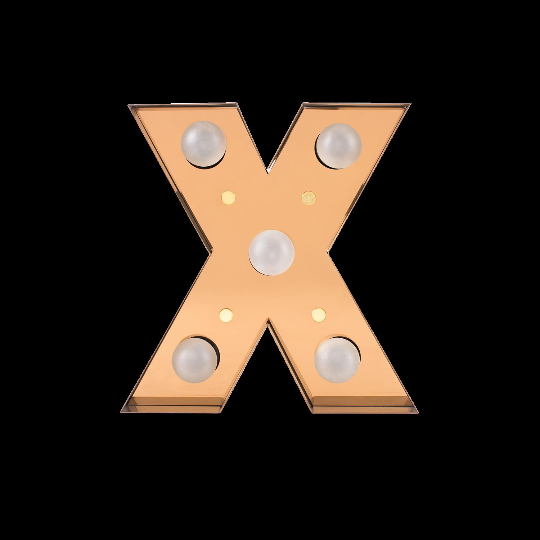 Caractère Alphabet Lights, X-0