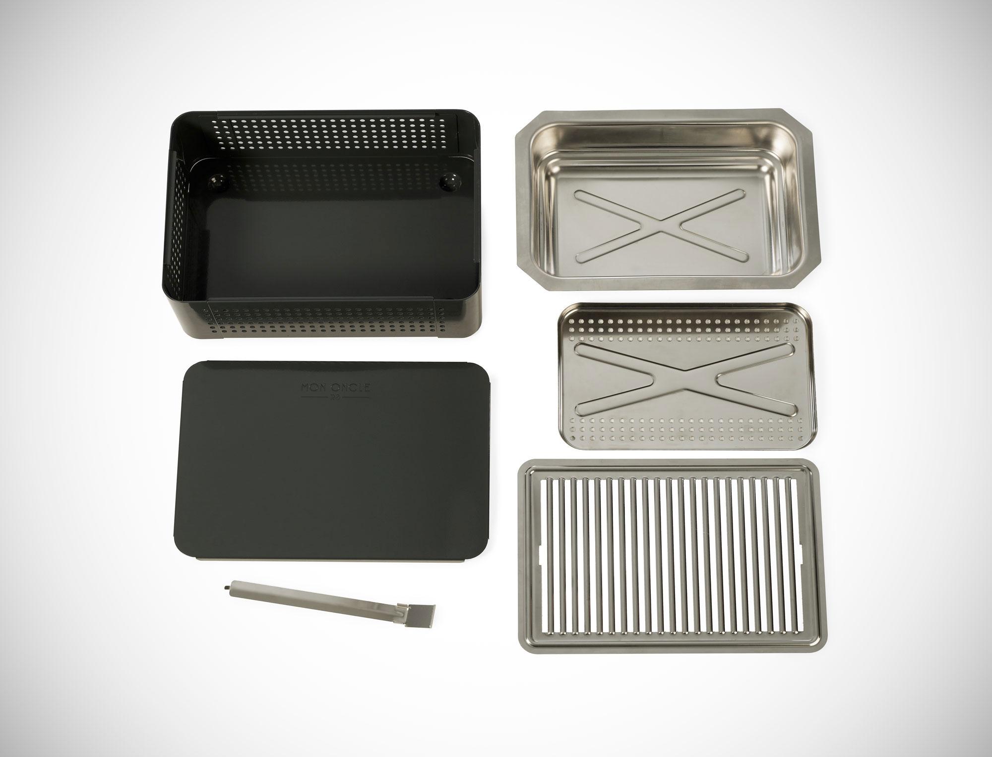 mon oncle portable bbq grill blue gessato. Black Bedroom Furniture Sets. Home Design Ideas