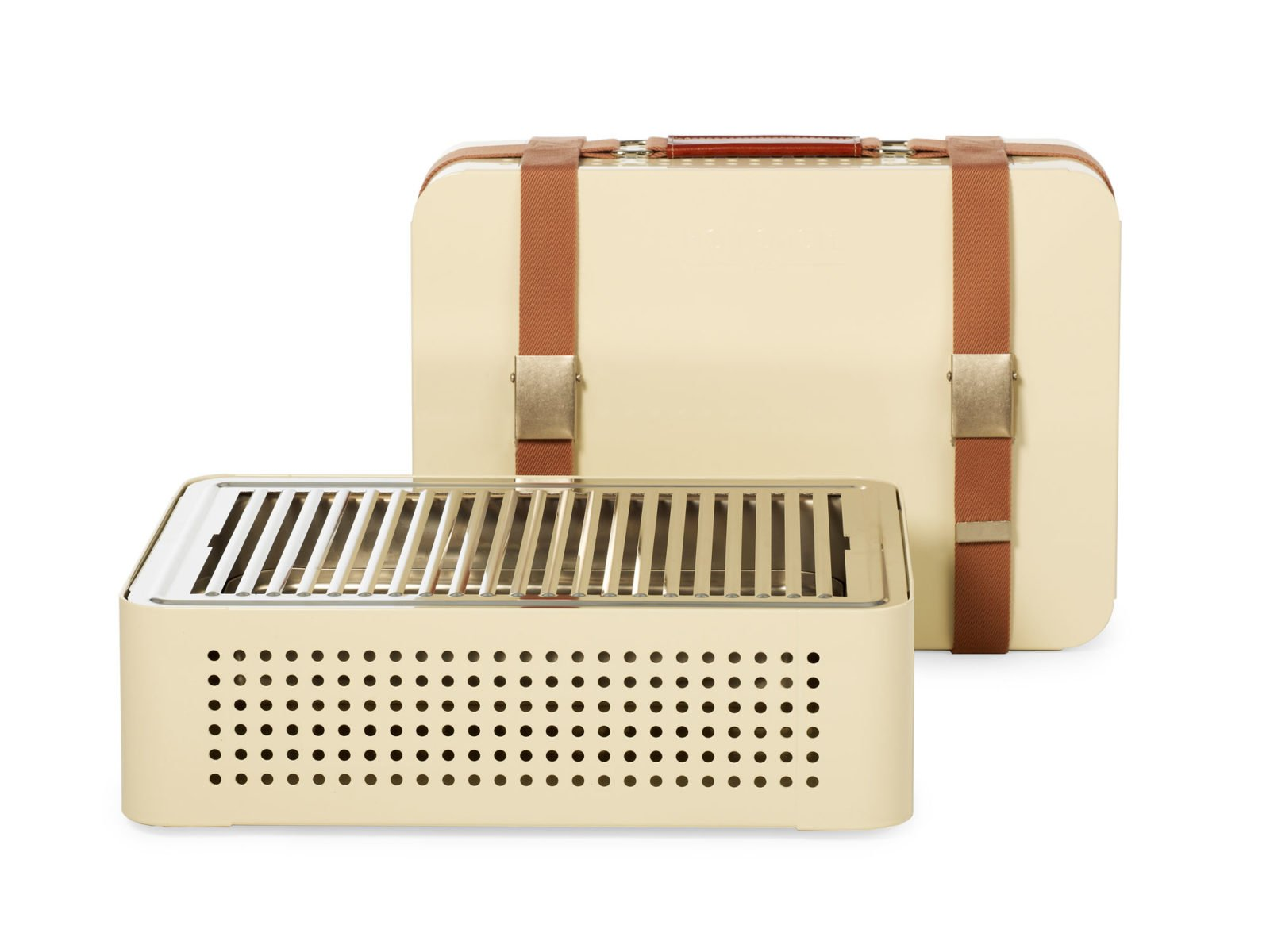 Mon Oncle Portable BBQ Grill, Cream-34624