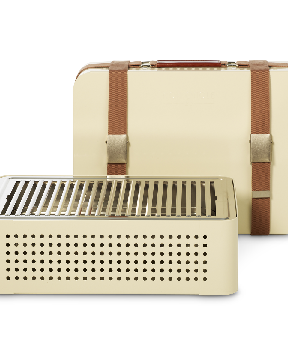 Mon Oncle Portable BBQ Grill, Cream-0