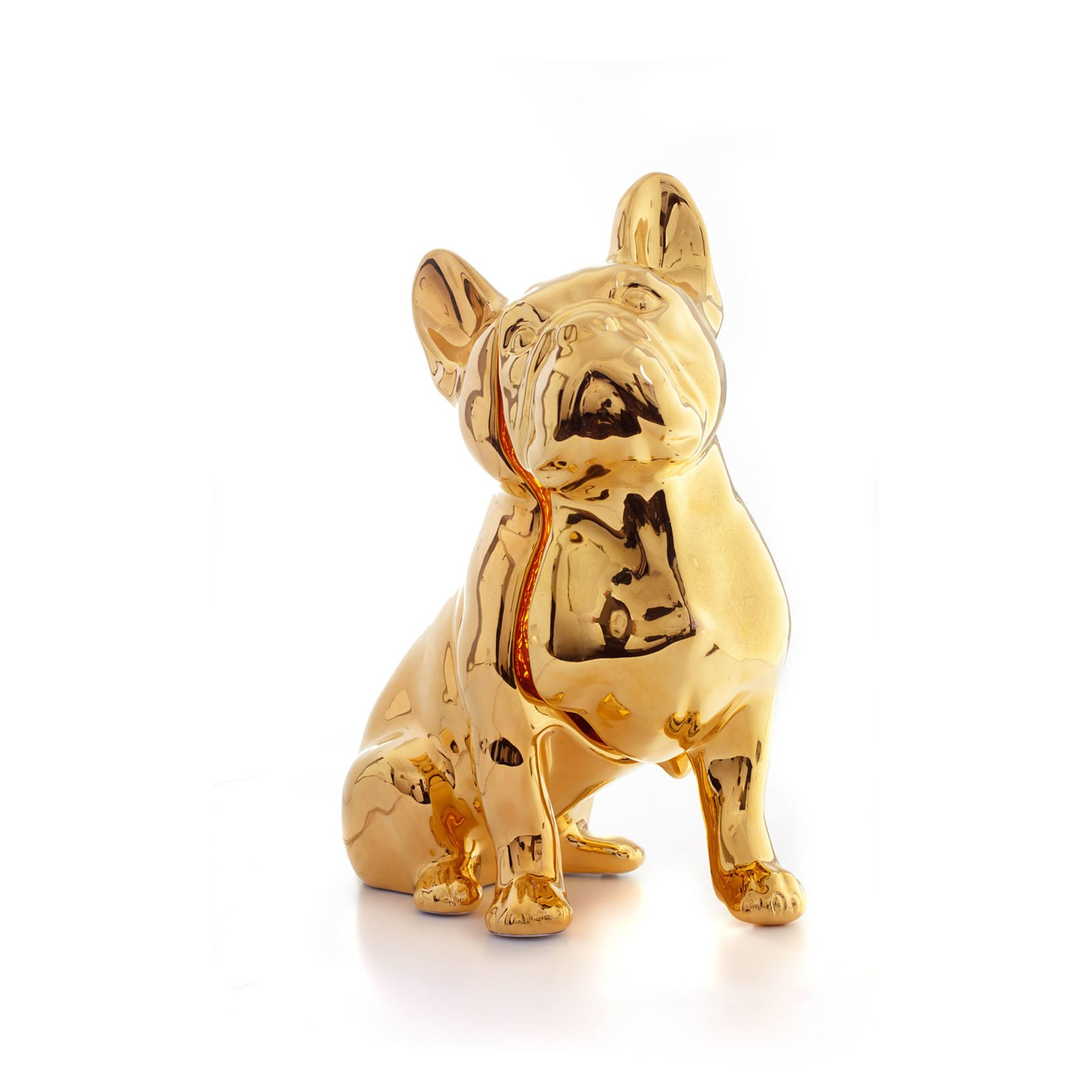 Toto Dog Table Lamp, 24Kt Gold Hand Painted-34700
