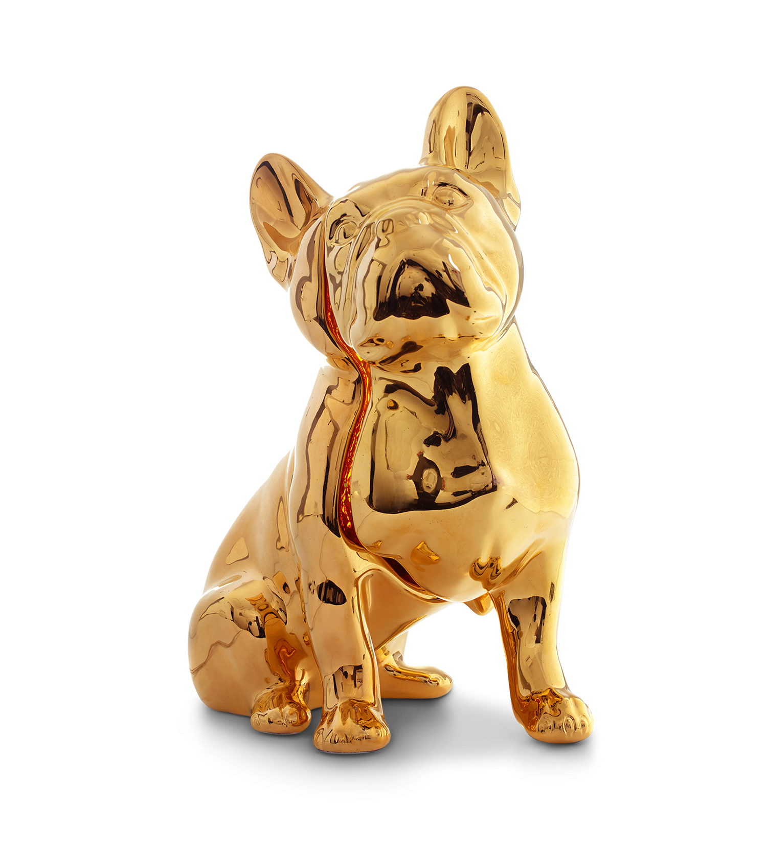 Toto Dog Table Lamp, 24Kt Gold Hand Painted-34702