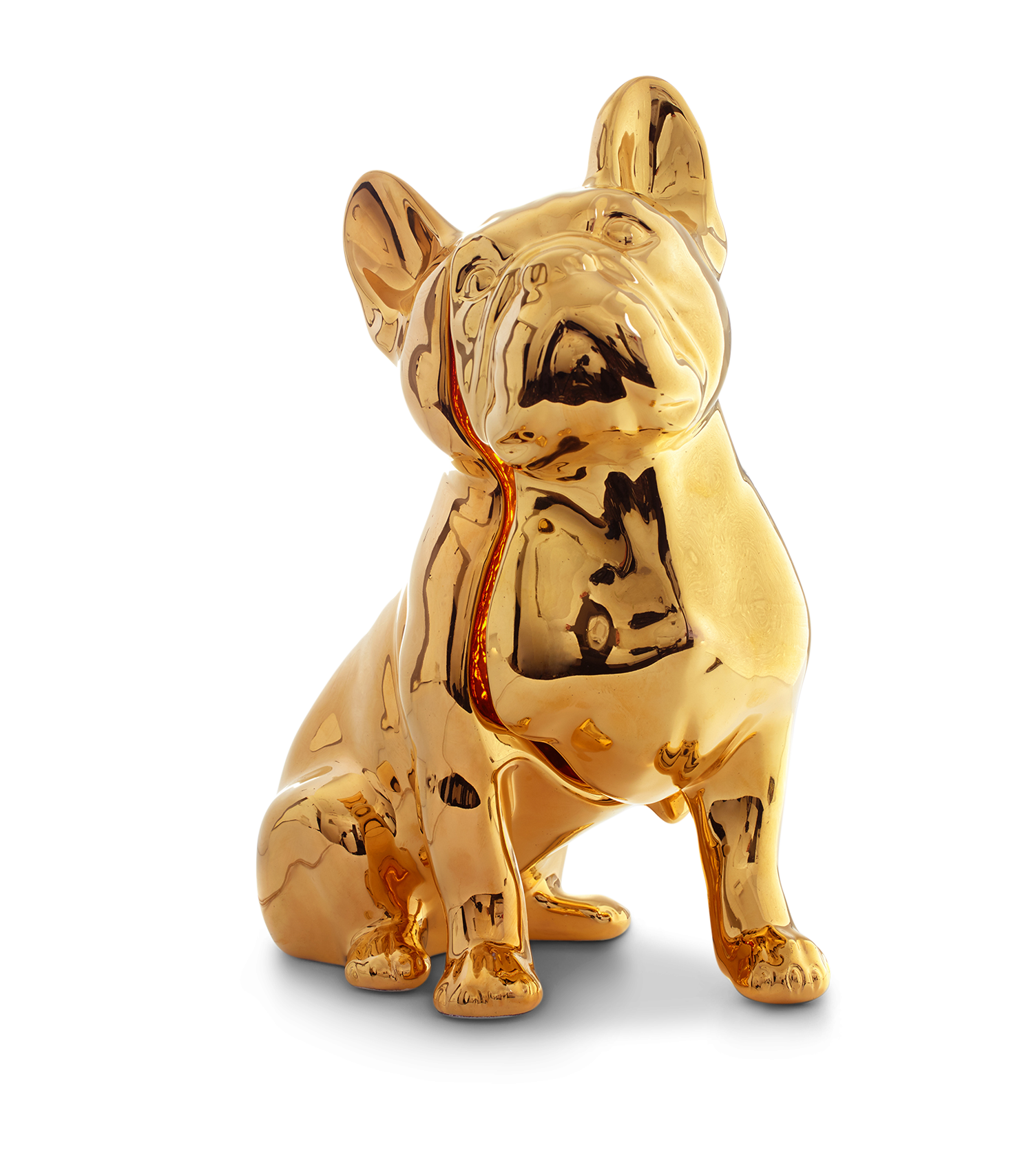 Toto Dog Table Lamp, 24Kt Gold Hand Painted-0