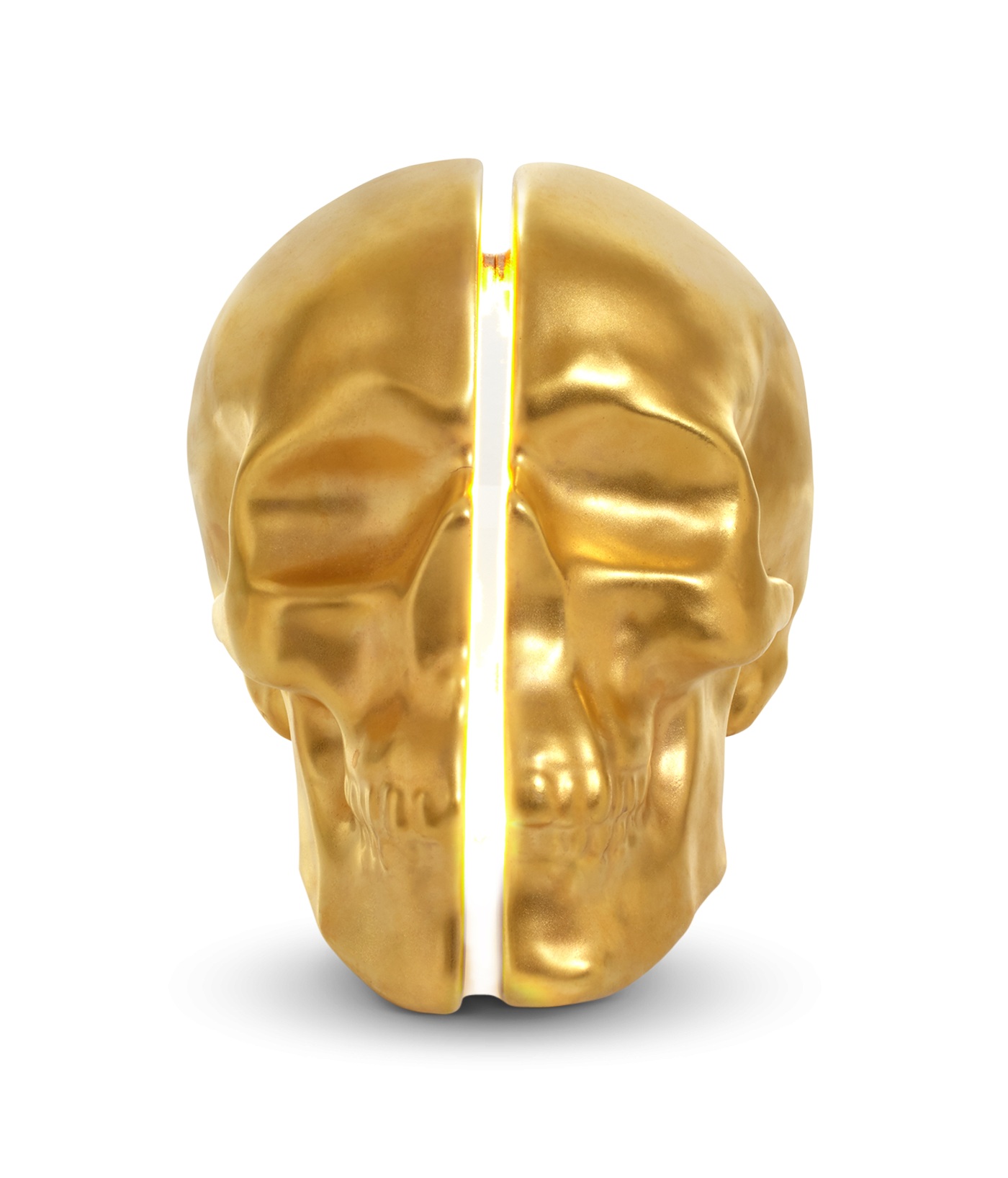 Yorick Skull Lamp, 24Kt Gold Hand Painted-0
