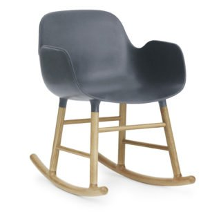 Form Rocking Armchair, Blue-35030
