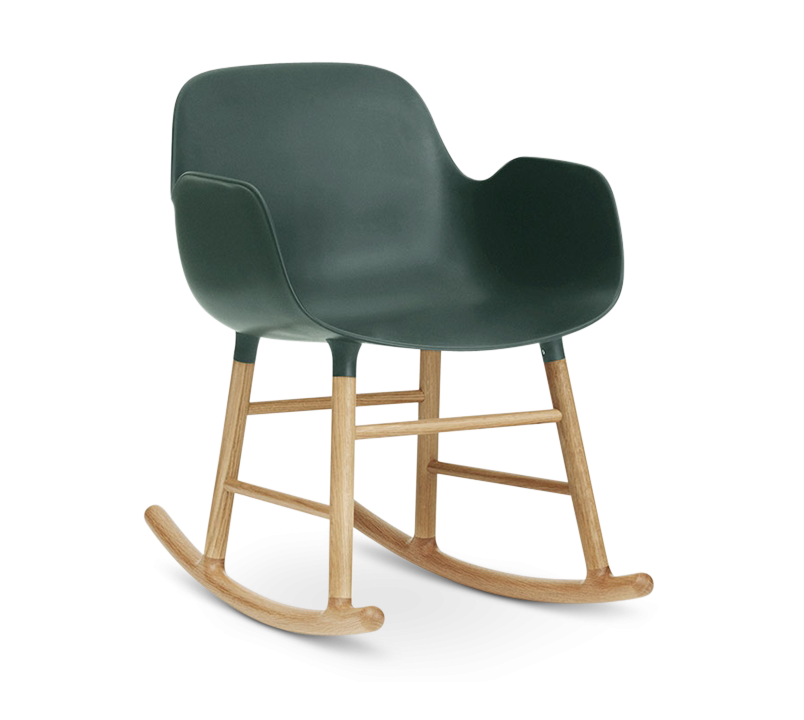 Form Rocking Armchair, Green-0