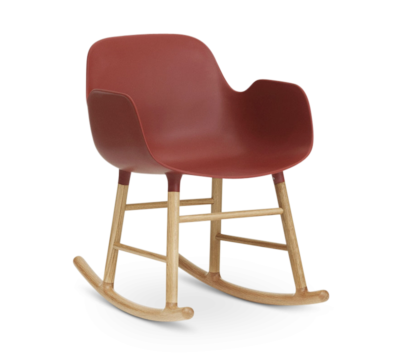 Form Rocking Armchair, Red-0