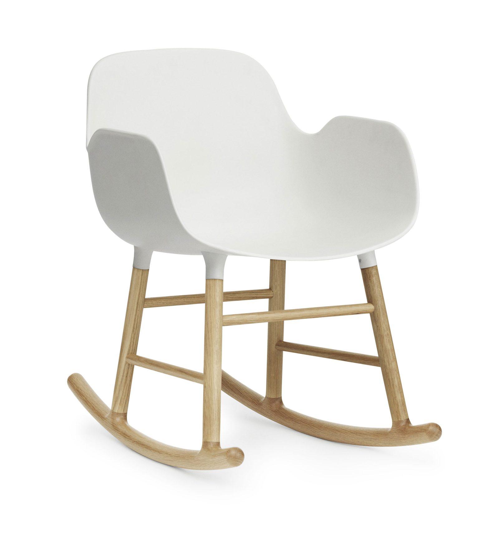 Form Rocking Armchair, White-35003