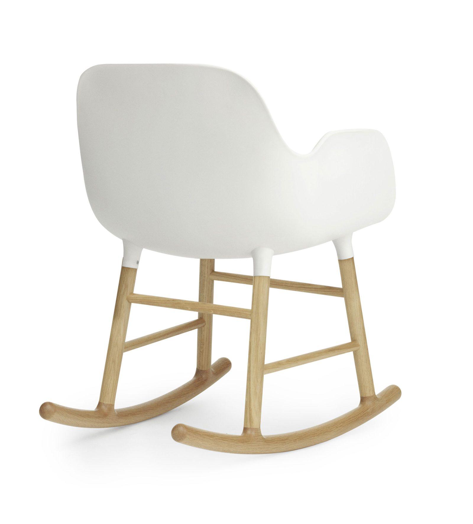 Form Rocking Armchair, White-35006