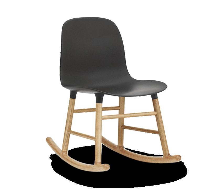 Form Rocking Chair, Black-0