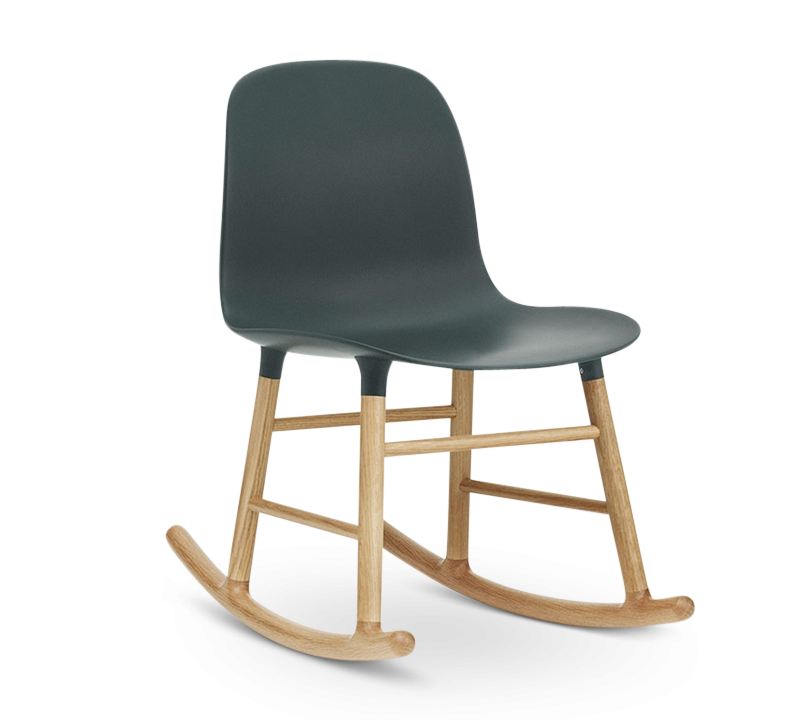 Form Rocking Chair, Green-0