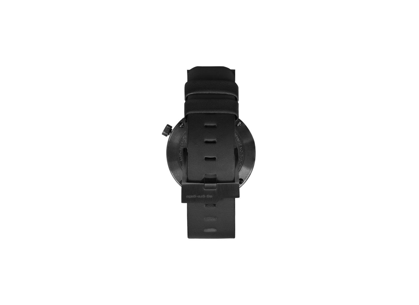 The Masonic Concrete Watch, Charcoal Black-34911