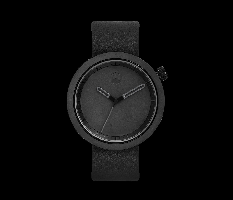 The Masonic Concrete Watch, Charcoal Black-0
