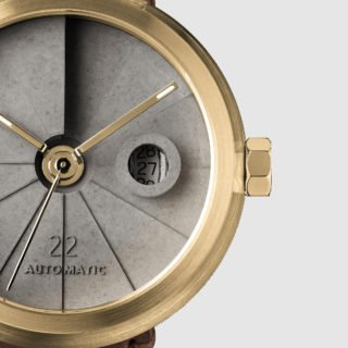 4D Concrete Automatic Watch - Minimal Brass-35120