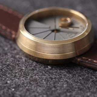 4D Concrete Automatic Watch - Minimal Brass-35121
