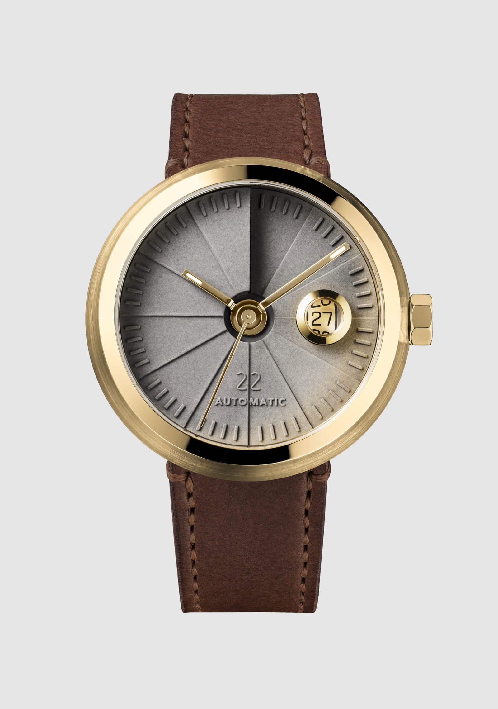 4D Concrete Automatic Watch – Signature Brass-35133