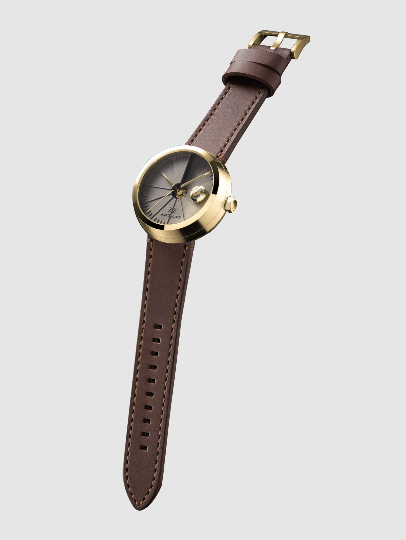 4D Concrete Automatic Watch – Signature Brass-35134