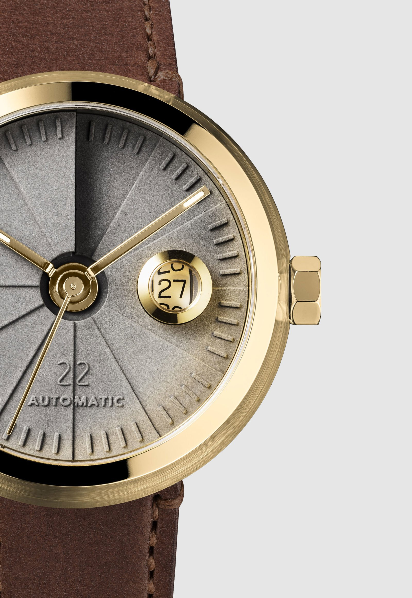 4D Concrete Automatic Watch – Signature Brass-35137