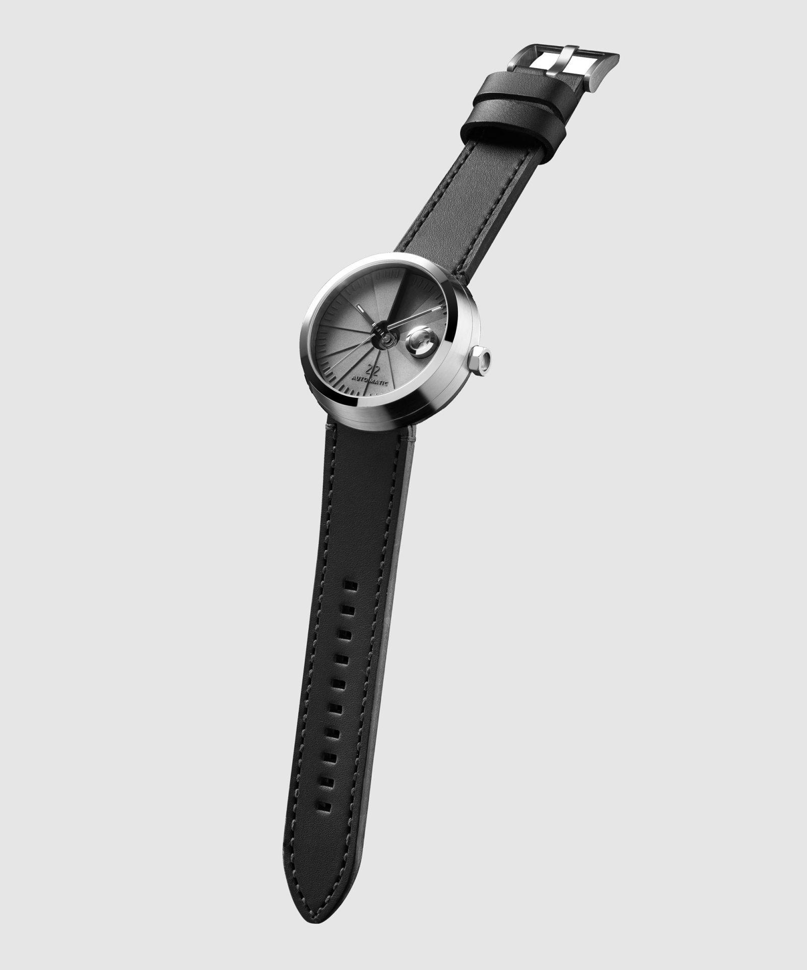 4D Concrete Automatic Watch – Signature Steel-35143