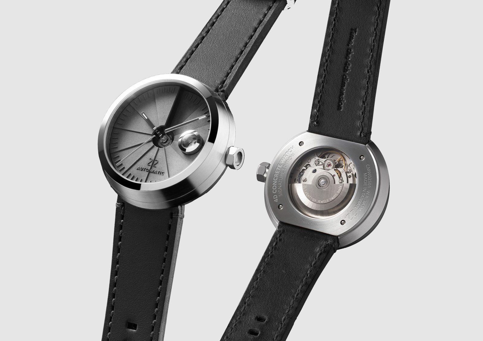4D Concrete Automatic Watch – Signature Steel-35145