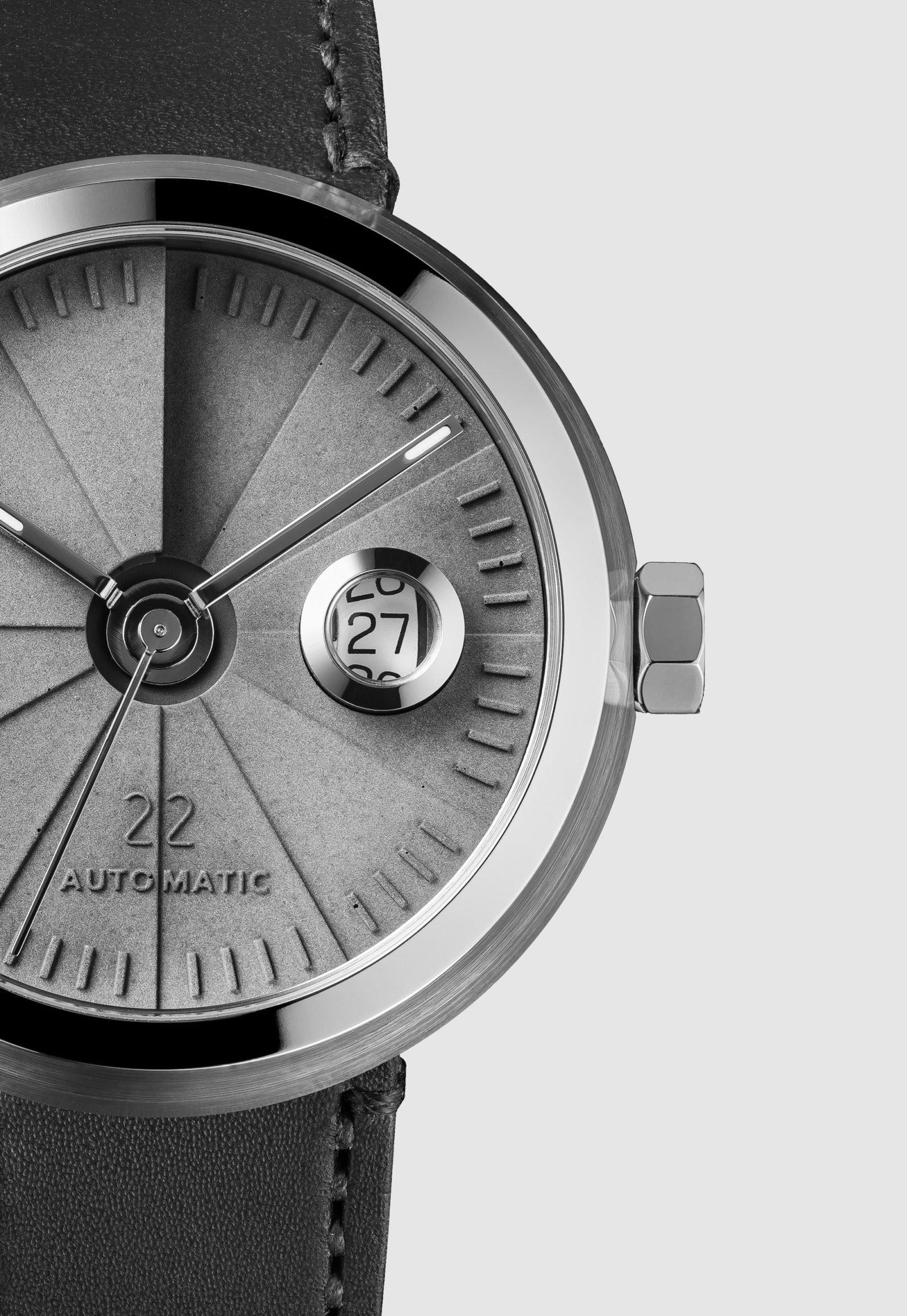 4D Concrete Automatic Watch – Signature Steel-35146