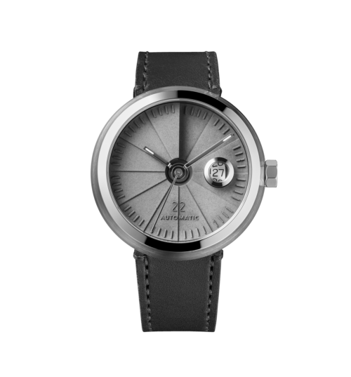 4D Concrete Automatic Watch - Signature Steel-0