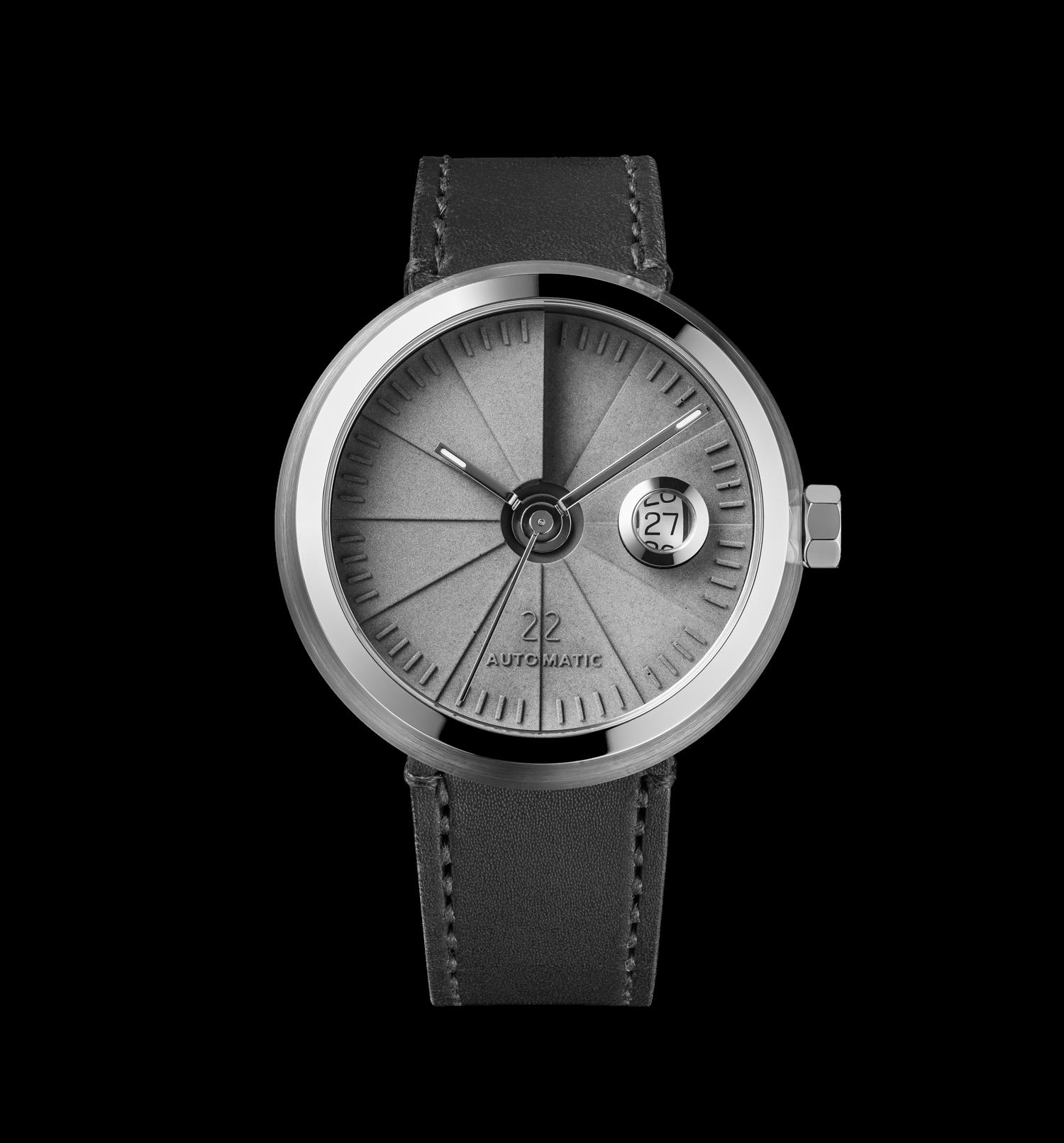 4D Concrete Automatic Watch – Signature Steel-0