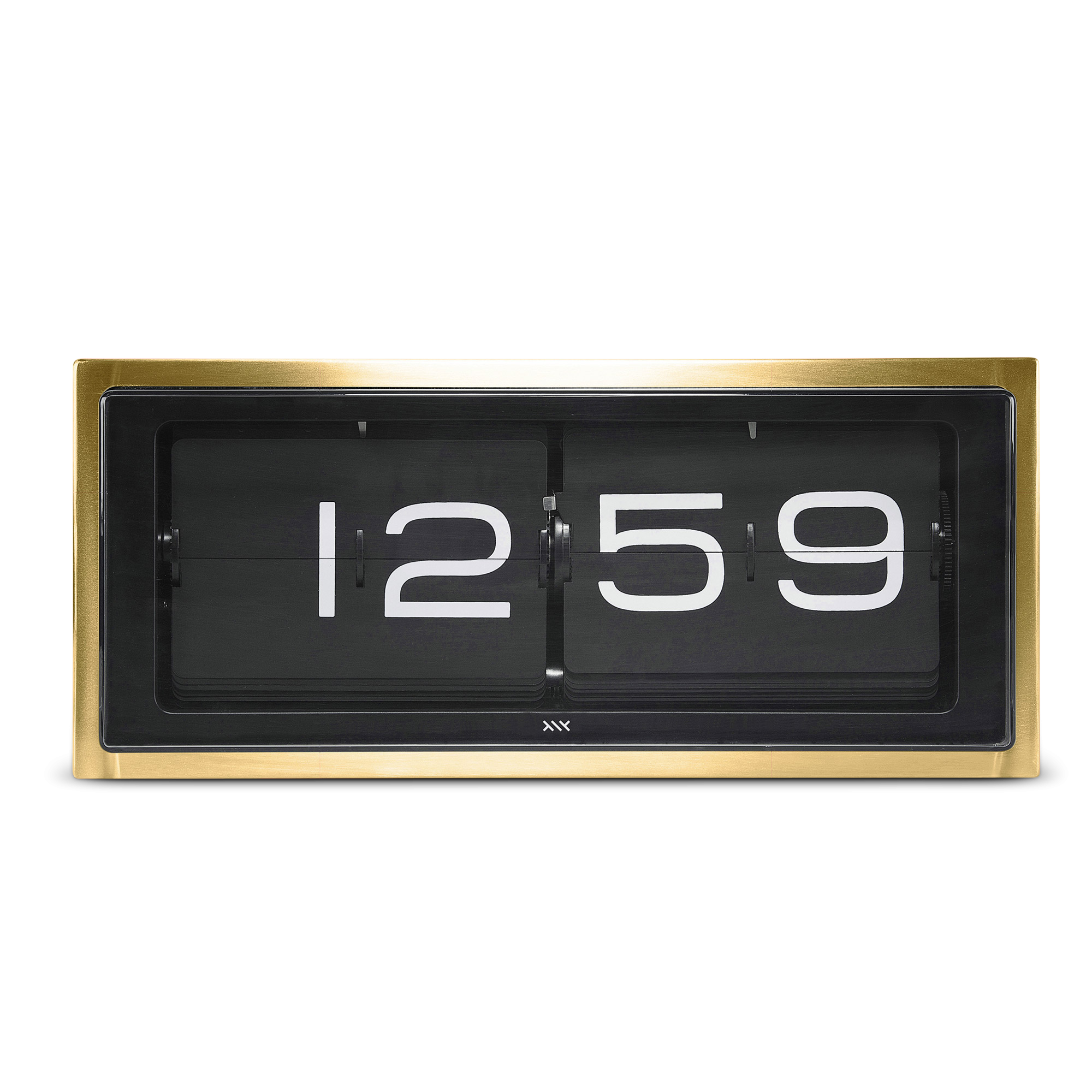 brick-table-clock-brass-black-base