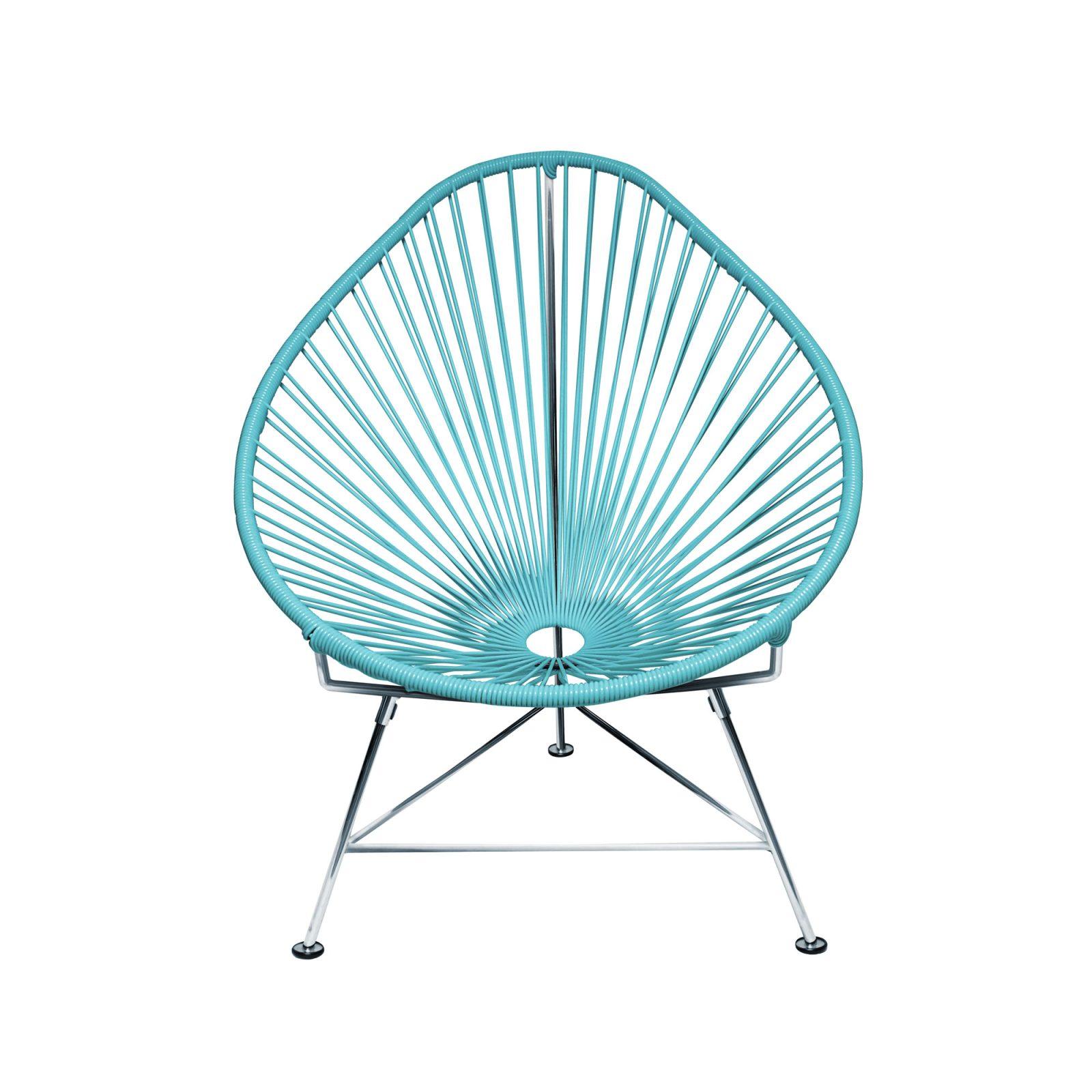 Acapulco Chair Chrome Frame Blue