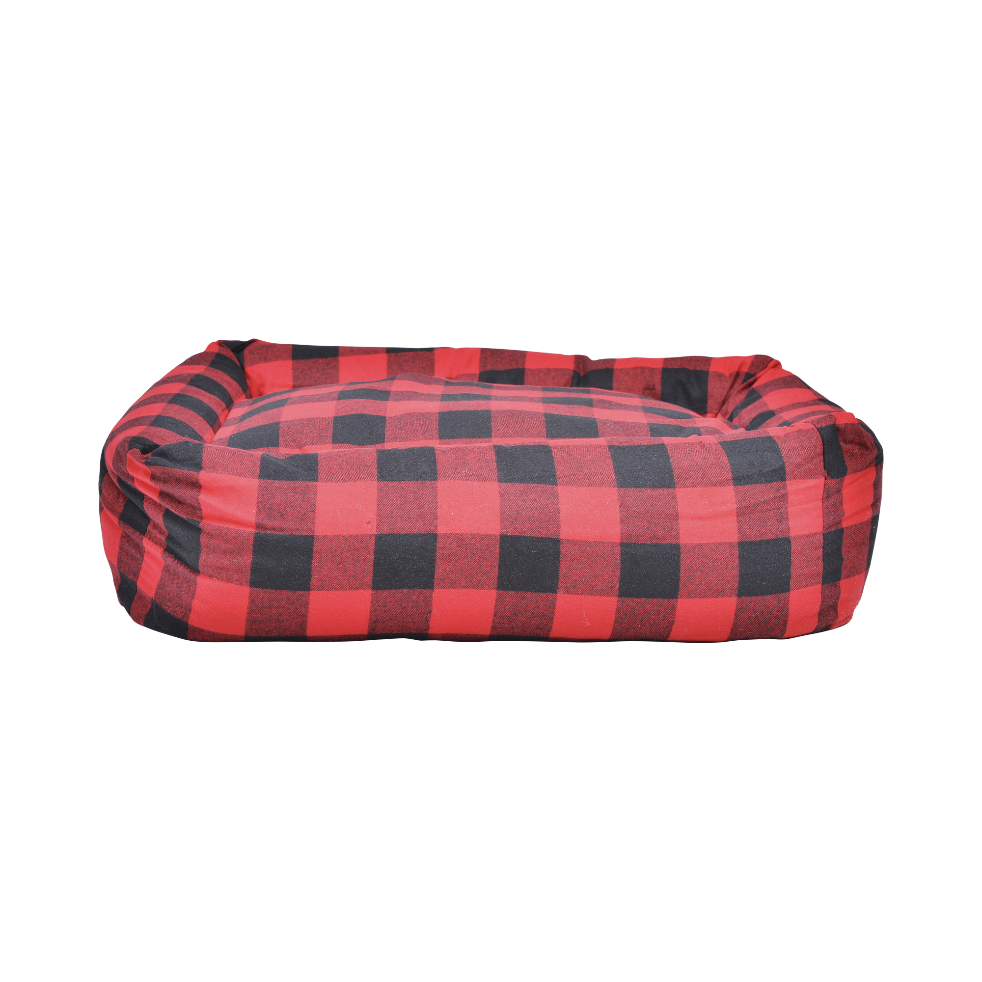 buffalo-plaid-square-snuggler-bed-red-1