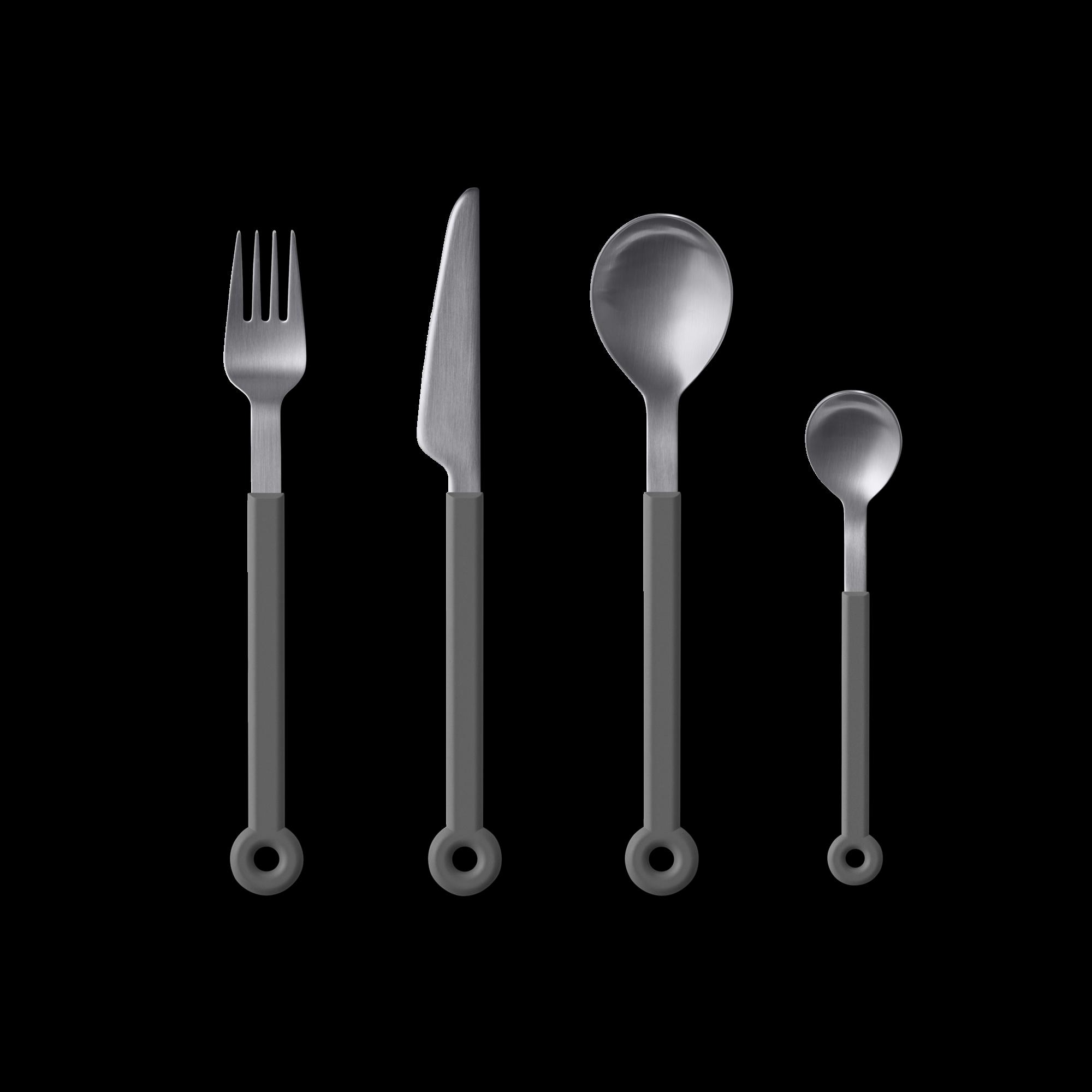 mono-ring-flatware-4-piece-set-grey-1