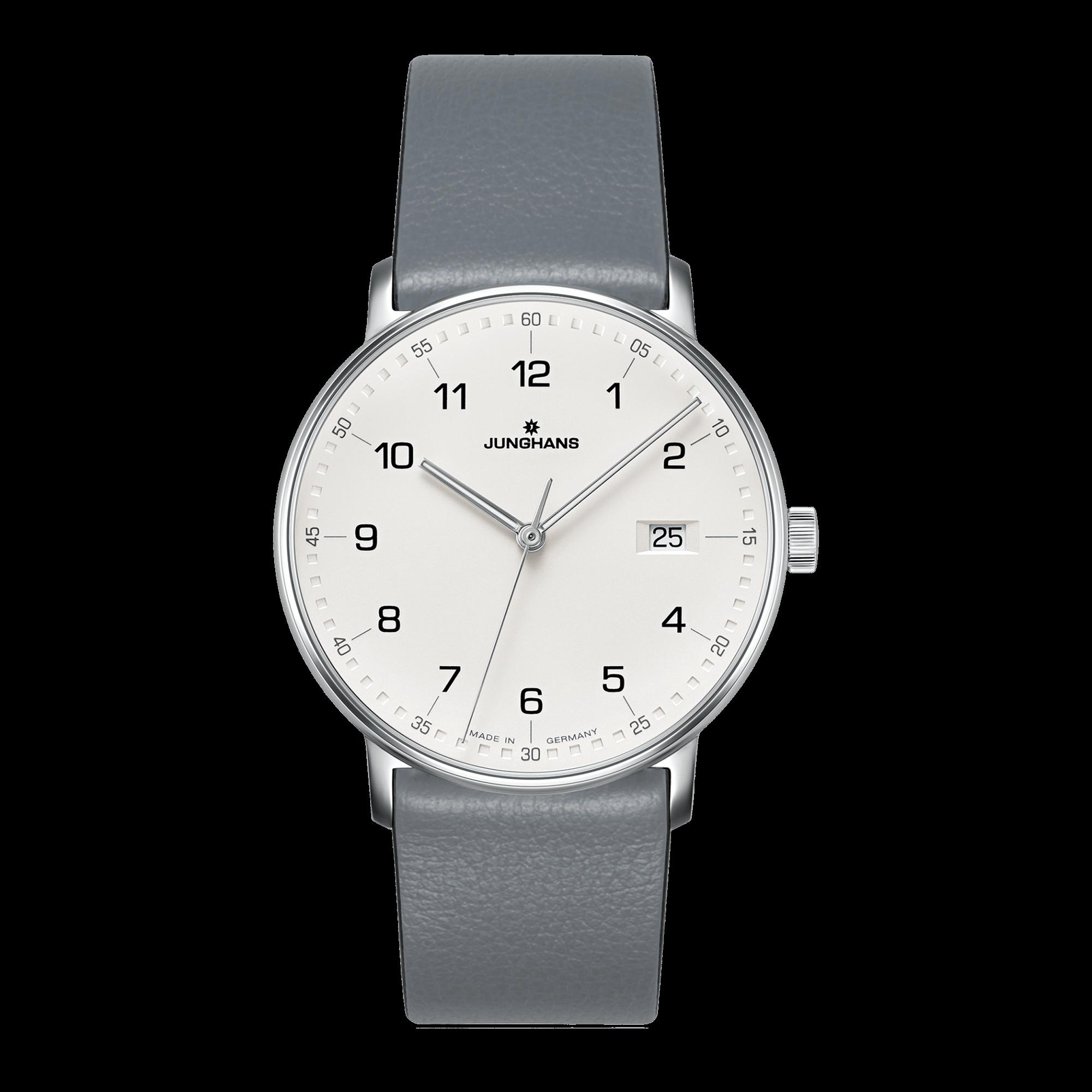 junghans-form-quartz-grey-calfskin-strap