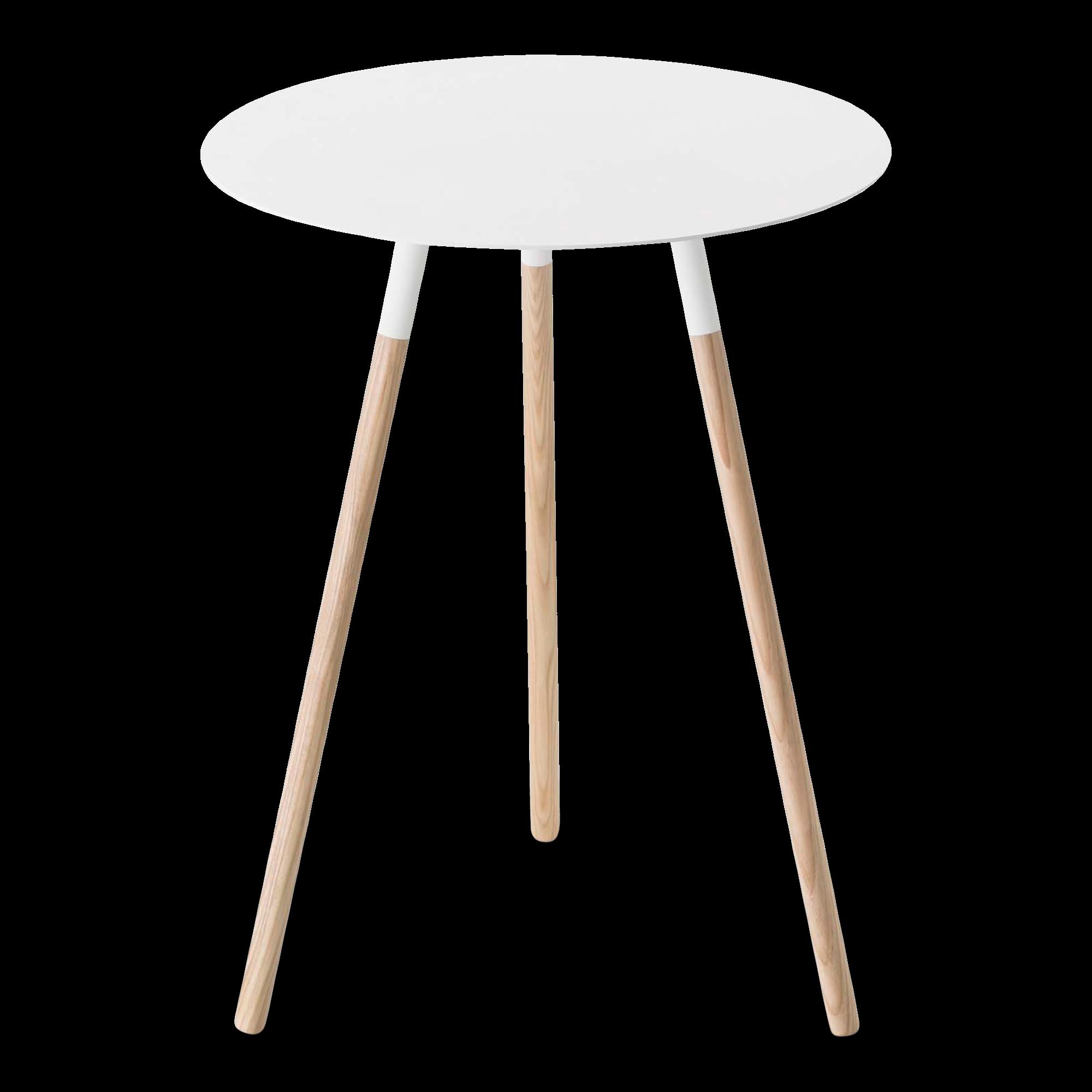 Table Ronde Bois Blanc: Plain Round Side Table, White